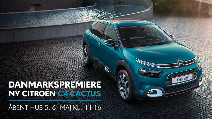 Vi Løfter Sløret For Den Ny C4 Cactus // Kom Til Danmarkspremiere Og Åbent Hus Den 5.-6. Maj Kl. 11-16