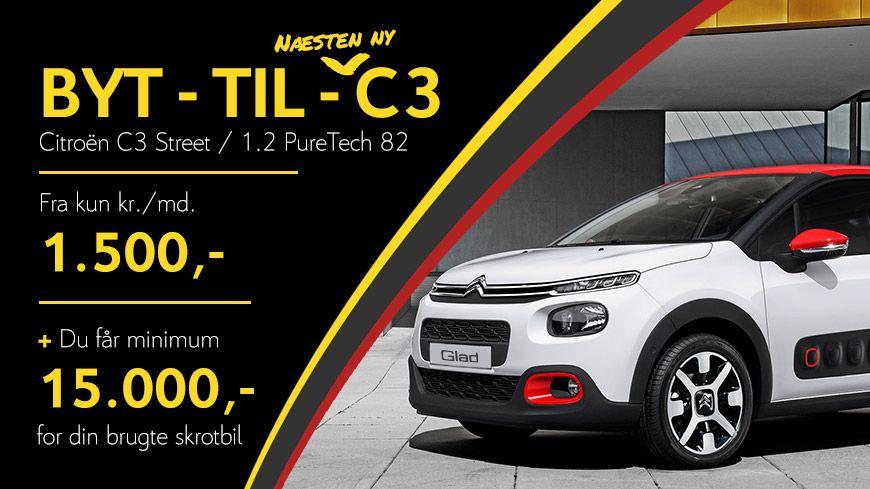 BYT-TIL-Citroën C3 Street* – Bliv Godt Kørende I En Næsten Helt Ny Citroën