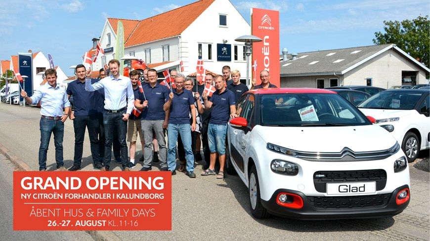 CITROËN GRAND OPENING – Åbent Hus Og Family Days Hos GLAD Kalundborg Den 26.-27. August