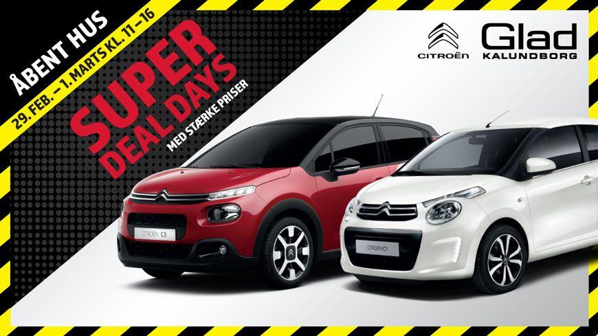 Citroën Super Deal Days Med Stærke Priser – Kom Til Åbent Hus I Weekenden