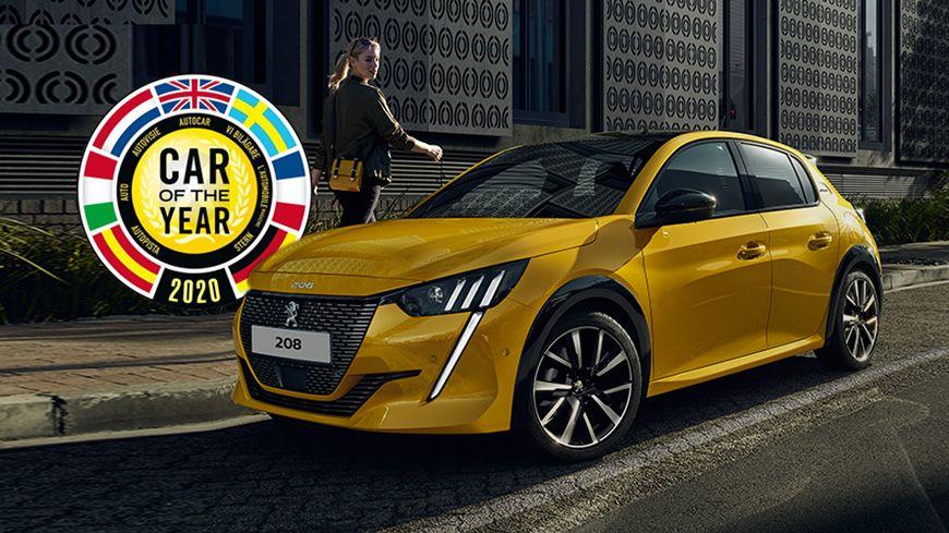 """Den Nye PEUGEOT 208 Er Kåret Til """"Car Of The Year 2020"""""""