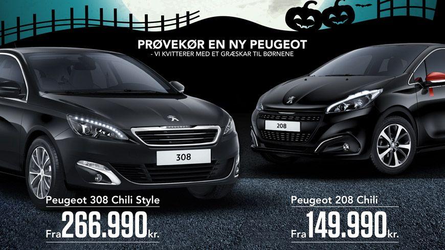Halloween Og Uhyggeligt Skarpe Peugeot Kampagnemodeller