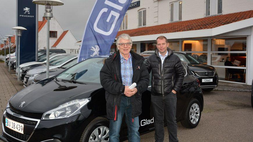Jens Lehm Nielsen Er Vinderen Af En Peugeot 208 Fra GLAD