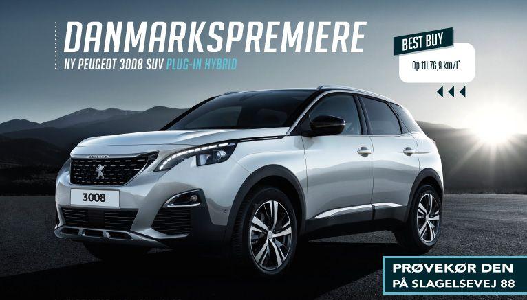 Prøvekør helt ny Peugeot 3008 plug-in hybrid