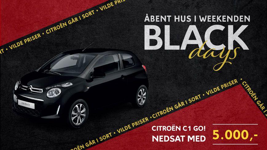 Kom Til Citroën BLACK DAYS Med Helt Sorte Priser Den 14.-15. September Kl. 11-16
