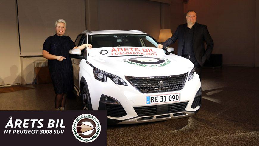 Peugeot 3008 Valgt Som Aarets Bil I Danmark 2017 Glad Kalundborg
