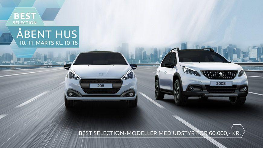 Peugeot Best Selection // Vi Inviterer Til Åbent Hus Den 10.-11. Marts Kl. 10-16