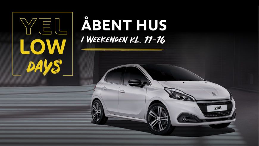 Peugeot Yellow Days Hos Glad – Kom Til Åbent Hus 10.-11. November Kl. 11-16