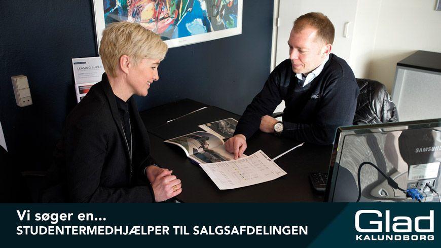 Fritidsjob Tilbydes // Vi Søger En Studentermedhjælper Til Salgsafdelingen
