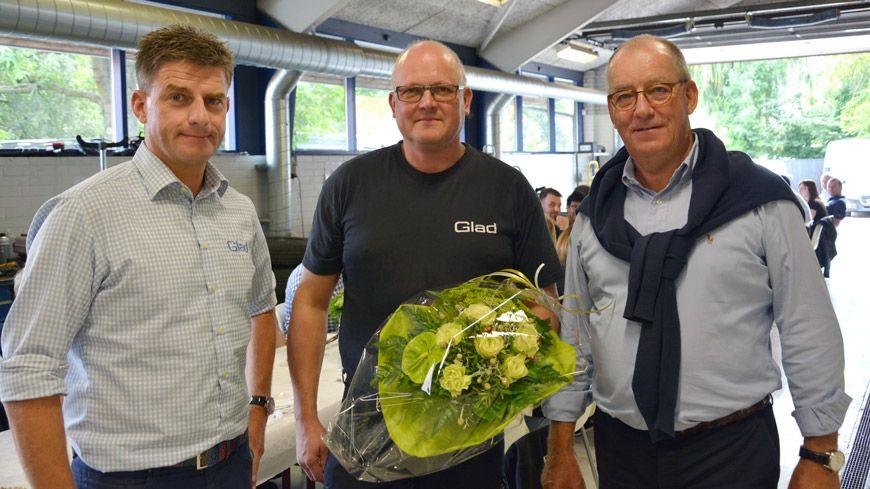 Teknisk Rådgiver Claus Jensen Fejrer 25 års Jubilæum Hos Glad
